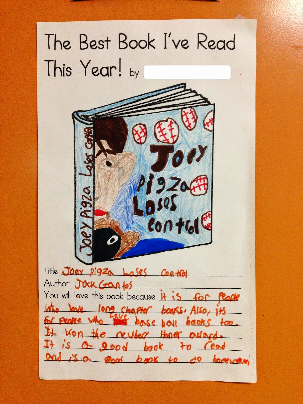 Teaching My Friends End Of Year Favorite Book Activity